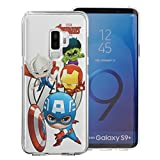 Galaxy S9 Plus Case Avengers Soft Jelly TPU Cover for [ Galaxy S9 Plus ] Case - Mini Avengers