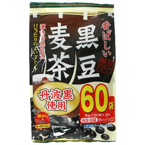 大阪ぎょくろえん 香ばしい黒豆麦茶 60袋入り