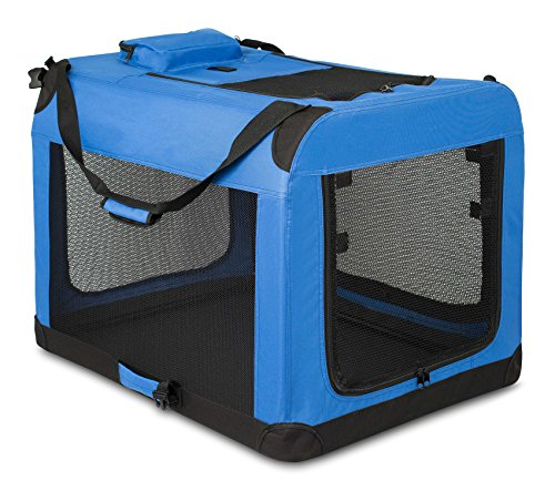 Internet's Best Soft Sided Dog Crate - Large (32 Inches) - Mesh Kennel - Indoor Outdoor Pet Home -...