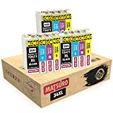 Matsuro Original | Compatible Cartuchos de Tinta Reemplazo para EPSON 34XL T3471 T3472 T3473 T3474 (3 Sets)