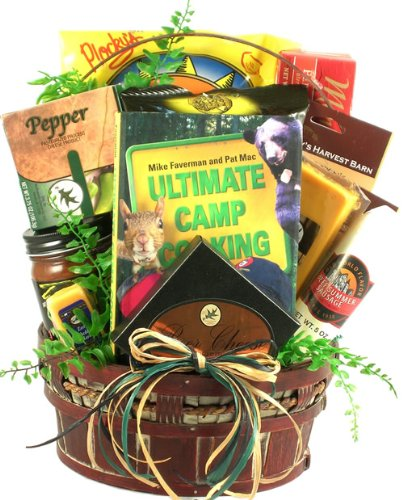 Camping Themed Gift Basket With Snacks