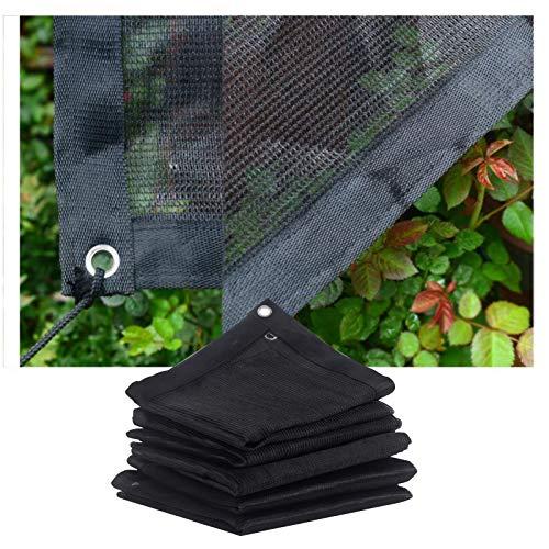JIANFEI Red de sombreado, 240 g/㎡, cubierta protectora para plantas de nailon antidesgarro, protección solar para patio, balcón, personalizable (color: negro, tamaño: 3 x 1 m)