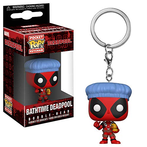 Funko 31734 Pocket POP Keychain: Deadpool Playtime: Deadpool Bathtime, Mehrfarbig