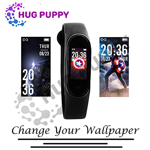 NR MART ® Sport Fitness Band Tracker Watch Heart Rate Waterproof Body Functions Like Steps Counter, Calorie Counter, Blood Pressure, Heart Rate Monitor LED Touchscreen Black