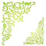 Gothic Corner Stencil - 10 x 13 inch (M) - Reusable Flourish Filigree Wood Large Wall Stencils for Painting - Use on Paper Projects Scrapbook Journal Walls Floor Fabric Furniture Glass Wood etc.