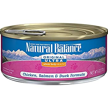 Natural Balance Original Ultra Whole Body Health Wet Cat Food Chicken Salmon & Duck Formula 6 Ounce Can  Pack Of 24