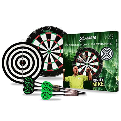 XQ Max Flocked Dartboard Michael Van Gerwen-Set floccate con Bersaglio e Freccette, 2 cm, Colore: Nero Unisex-Adulto