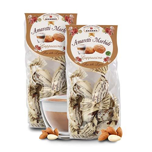 Amaretti Sabor Capuccino - Galletas Italianas de Almendra - 150 Gramos (Paquete de 2 Piezas)