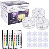 Unterwasser LED Licht, ALED LIGHT Aktualisiertes 3 Pack 10 LEDs RGB Multifarbige Wasserdichte LED...