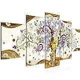 Gustav Klimt Albero Della Vita Murali Tela Non Tessuta 5 Pezzi Astratto Colorato Camera Da Letto Corridoio 003053a