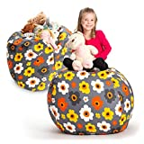 Creative QT Stuffed Animal Storage Bean Bag Chair -...