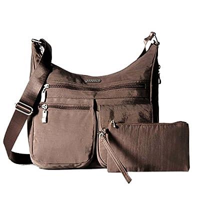 Baggallini Crossbody Bag for Women - Functional, Lightweight, Durable with Key Foab & Wristle