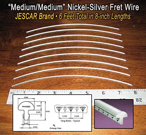 Guitar Fret Wire - Standard Nickel-Silver Medium Gauge - Six Feet