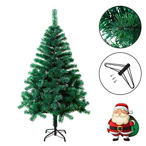 Froadp 210cm Artificial PVC Verde Árbol de Navidad Abeto Árbol Pino Aguja (PVC Verde, 210cm)