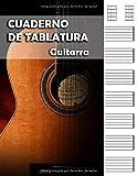 CUADERNO DE TABLATURAS PARA GUITARRA: perfecta para músicos, guitarristas, estudiantes de guitarra española, eléctrica o acústica, profesores de ... A4 - 200 páginas con 7 tablaturas por página