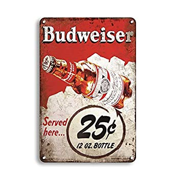 MeowPrint Budweisors Historc Label Beer Bar Man Cave Vintage Retro Tin Sign 12.5x16 Inch  25