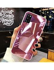 URFEDA Compatibel met Samsung Galaxy A41 telefoonhoesje Diamond Glitter Case met spiegeleffect Sparkly Bling TPU Siliconen + Dura PC telefoonhoesje