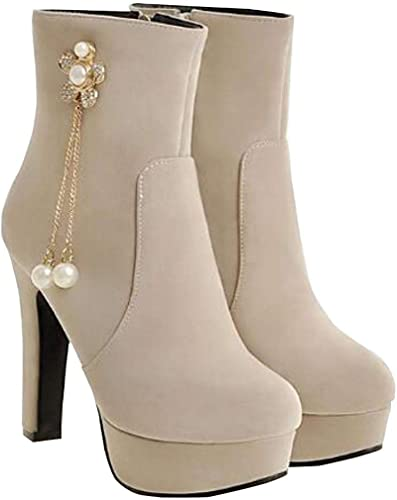 Hhoro botas de otoño e Invierno con Cremallera Lateral y Tacones Altos de Cuero (Color   3, tamaño   38EU)