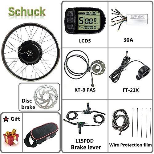 Schuck 48V 1000W 20'/ 24' / 26'/27,5' / 28'/29 ''/ 700C Kit di conversione Bici elettrica Ruota Anteriore,con Display LCD5 (48V 27.5 inch)