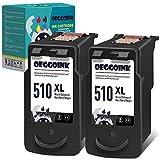Oeggoink Remanufactured 510 XL PG-510XL - Cartuchos de tinta para Canon PG-510 XL (compatible con Canon Pixma MP270, MP280, MP230, MP240, MP250, iP2700, MP495, MP490 y MX360, 2 negros)