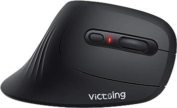 VicTsing Wireless Ergonomic Mouse, Vertical Mouse- Reduce Wrist Pressure, 3 Adjustable DPI/6 Buttons/Comfortable Shape/Long Battery Life, Quiet Optical Computer Mouse for Laptop PC Desktop