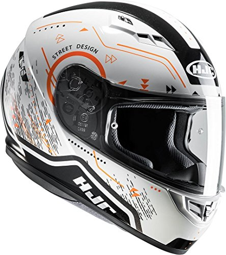 HJC Helmets CS-15 - SAFA / MC7 - Integralhem/Sporthelm/Motorradhelm, GröàŸe:XXL, 10190711, Weiß/Orange