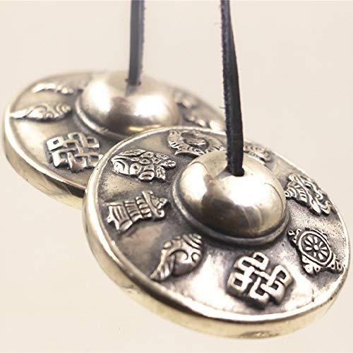 HAIHF Tibetaanse Singing Bowl, Religieuze instrumenten Nepal geïmporteerde handgemaakte koperen hobbels Klokken Klokken Boeddhisme benodigdheden