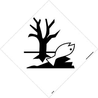 DL174P National Marker Dot Shipping Label, Marine Pollutants Symbol, 10.75 Inches x 10.75 Inches, Ps Vinyl
