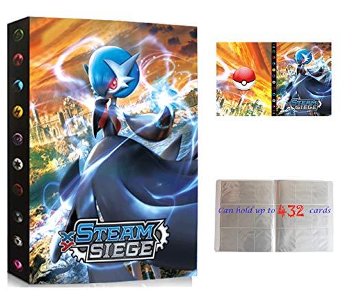 Álbumes Compatible con Cartas Pokemon, Carpeta Compatible con Cartas de Pokémon, Álbum Titular Compatible con Cartas Pokémon, 24 páginas con capacidad para 432 cartas (Gallade)