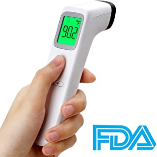 2020 New Forehead Thermometer, FDA Approved, Non-Contact Ear Thermometer, Digital LCD Display, Fever Alarm, Memory Function, Temperature Gun for Baby Kids and Adult, Fast Delivery, 7-9 Days