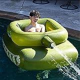 Réservoir Gonflable Bague de Bain Piscine à Jet d'eau, Réservoir Gonflable Piscine de Bain Flotte, Tank Piscine Tapis Gonflable Toy avec des Adolescents et des Enfants Giant Taille des Enfants