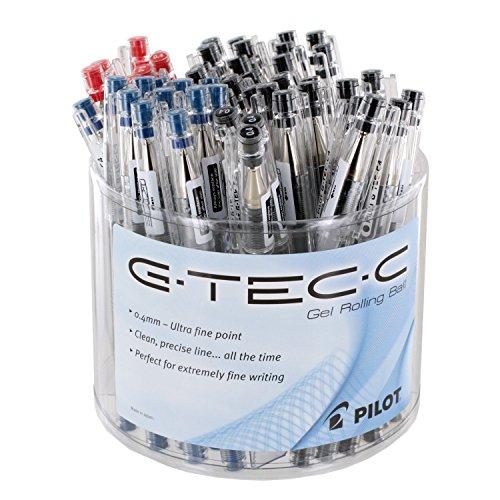 Pilot G-Tec-C bolígrafos, punto Ultra fino 0,4mm,, bañera de 48(59013