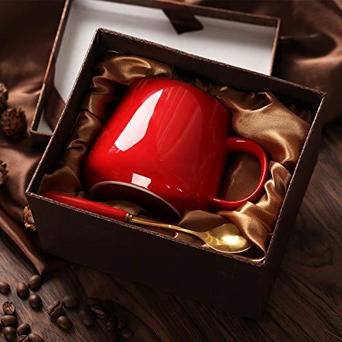 Hao-zhuokun koffiemok van keramiek, hittebestendig, waterglas, creatief latteglas, wijnglas, set met kopjes en schoteltjes van keramiek