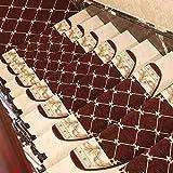 Insun Stufenmatten Halbrund Treppenteppich Anti Rutsch Abwaschbarer Renaissance Vintage Orientalisch Muster Treppenstufen Matten Kaffee 3 24x100cm 1 Stück
