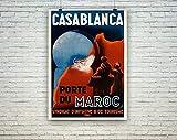 AZSTEEL Casablanca Poster: Vintage Moroccan Travel Print