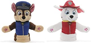 GUND Paw Patrol Puppet Plush Bundle of 2, 11 inch Chase and Marshall