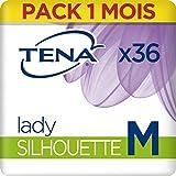 Tena Lady Silhouette Medium Sous-Vêtements pour Fuites Urinaires / Incontinence / Post-partum (Pack 1 mois de 36 Sous-vêtements)