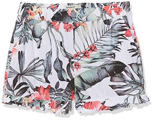 Garcia Kids Mädchen D92725 Shorts, Mehrfarbig (Off White 53), (Herstellergröße: 134)