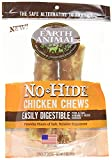 """Earth Animal No-Hide Chicken Dog Chews. Large 7"""", 2-Pack. The Safe Alternative to Rawhide."""