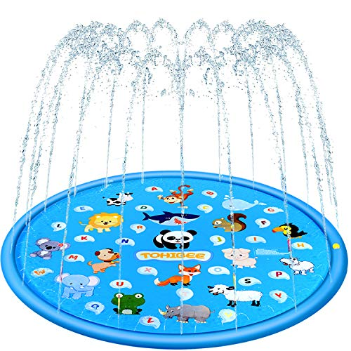 TOHIBEE Sprinkler for Kids 68' Splash Pad Wading Pool Outdoor Water Toys Backyard Fountain Play Mat...