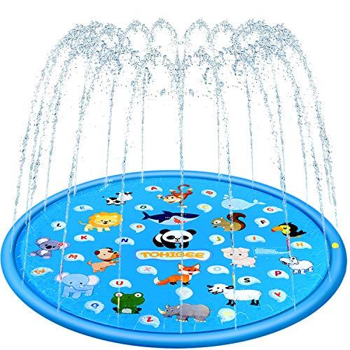 TOHIBEE Sprinkler for Kids 68' Splash Pad Wading Pool Outdoor Water Toys Backyard Fountain Play Mat...
