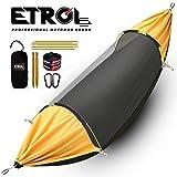 Hamac ETROL, mise à niveau hamac de camping avec moustiquaire, 3 dans 1 conception de blackout Aluminium Portable hamac Tent pour arrière-cour, voyage, randonnée, plage et autres activités extérieures