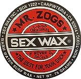 Sex Wax Surfwachs von Mr.Zogs Original 75 Gramm rot für den Temperaturbereich warm 19-26° Celcius, Mr. Zogs Wachs red