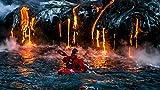 Hombres Lava Deportes Naturaleza Paisaje Volcán Humo Kayaks Agua Mar Pintura por Números para Adultos y niños Pintar Diy al óleo de Bricolaje Pinceles Principiantes Hogar Lienzo Decoraciones