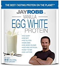 Jay Robb Vanilla Egg White Protein Powder, Low Carb, Keto, Vegetarian, Gluten Free, Lactose Free, No Sugar Added, No Fat, No Soy, Nothing Artificial, Non-GMO, Best-Tasting (80 oz, Vanilla)