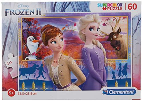 Clementoni- Puzzle 60 Piezas Frozen 2, Color Multicolor. (26056.0)