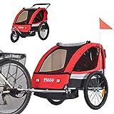 Tiggo 502-01 - Rimorchio da bicicletta per bambini con kit per footing, colore: rosso