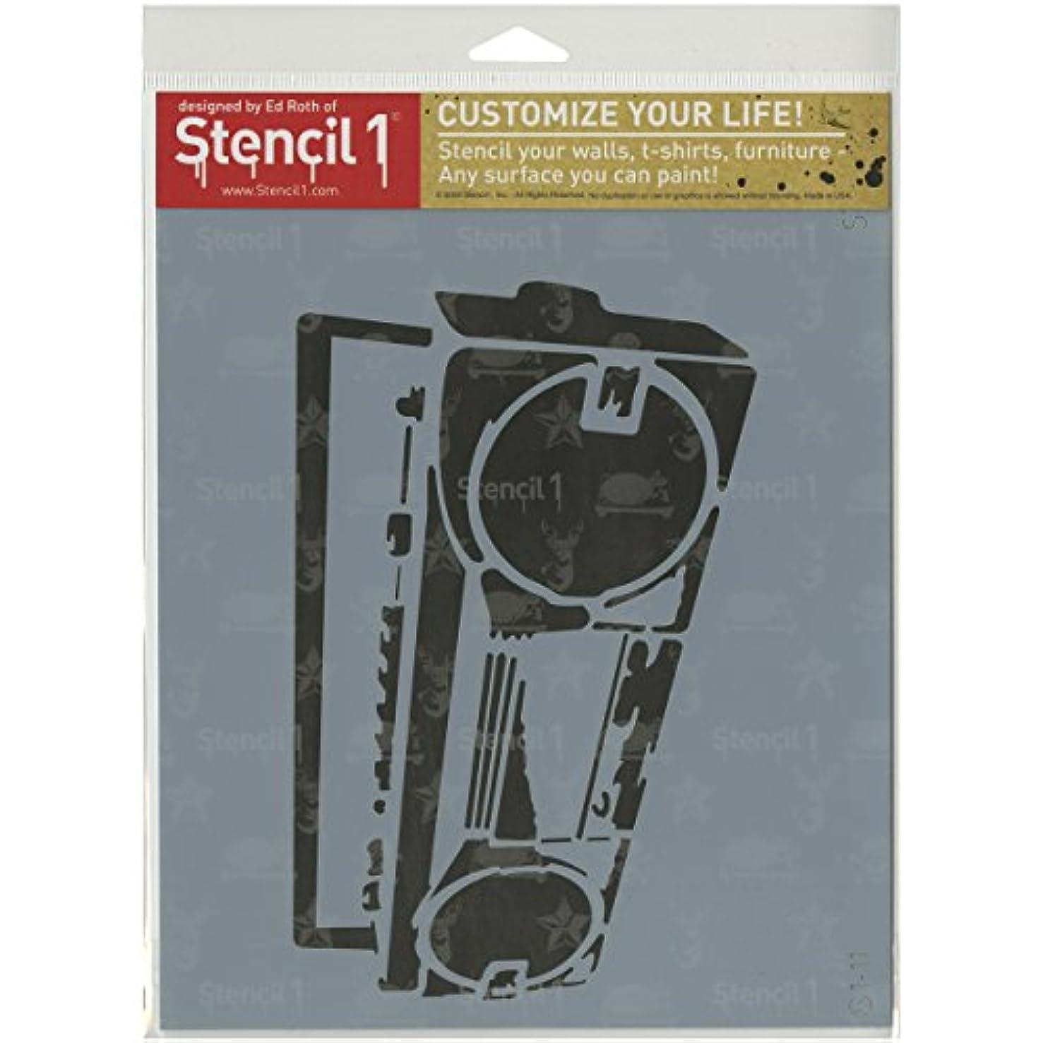 Stencil1 Boombox Stencil, 8.5 x 11