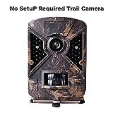 Bestok Kein Setup Wildkamera Digital Fotofalle Bewegungsmelder 12MP 1080P Full HD Tag Nachtsicht Jagdkamera Weitwinkel Vision Infrarote 65ft/20m Bildschirm Wasserdicht IP65