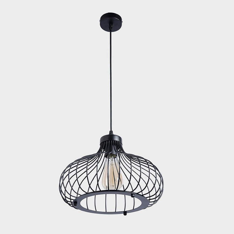 Chandelier, American Loft schwarz Iron Bird Cage Chandelier, Single-Head Metal Bedroom, Bar Decoration Lighting,